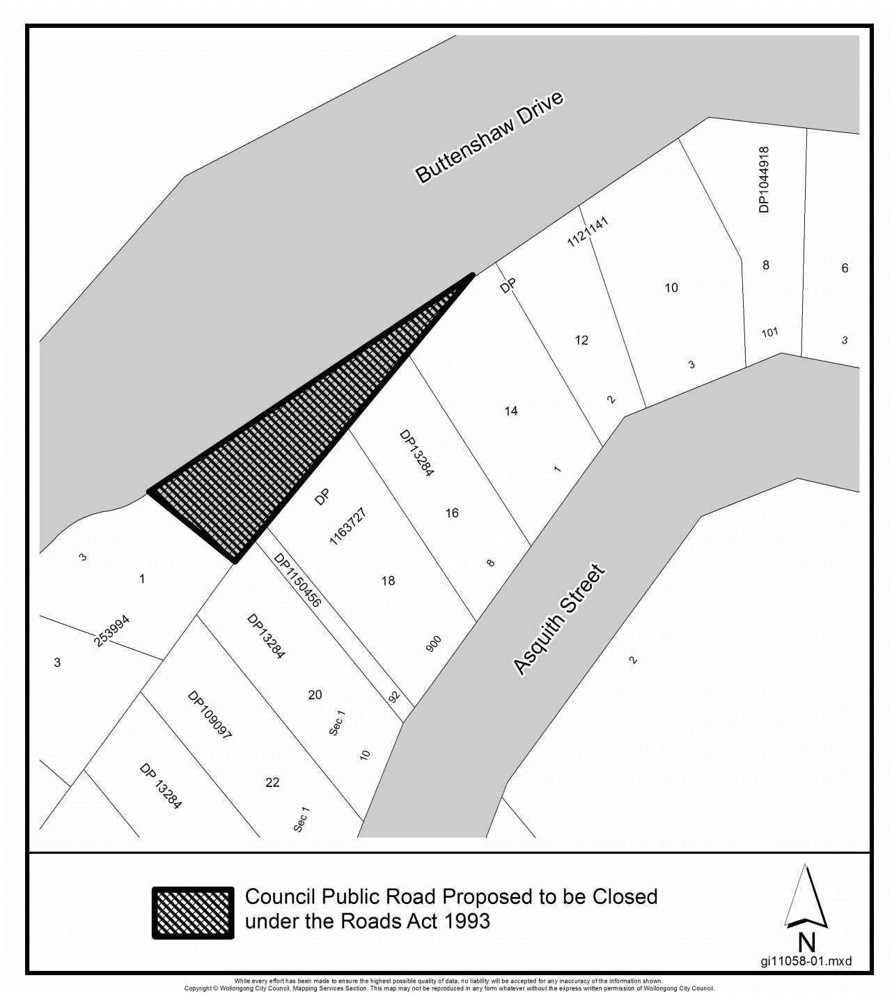 Proposed part closure of Buttenshaw Road