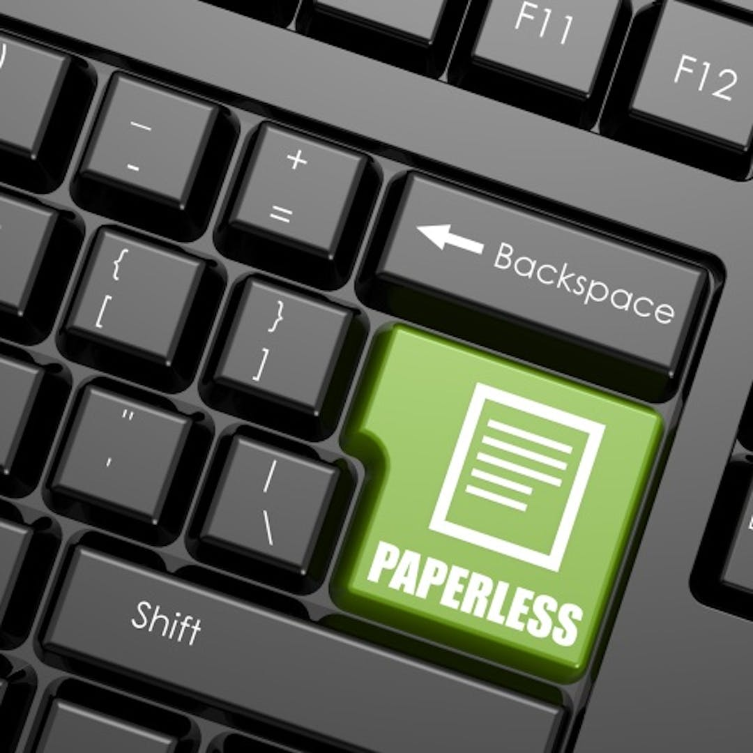 Paperless reduced