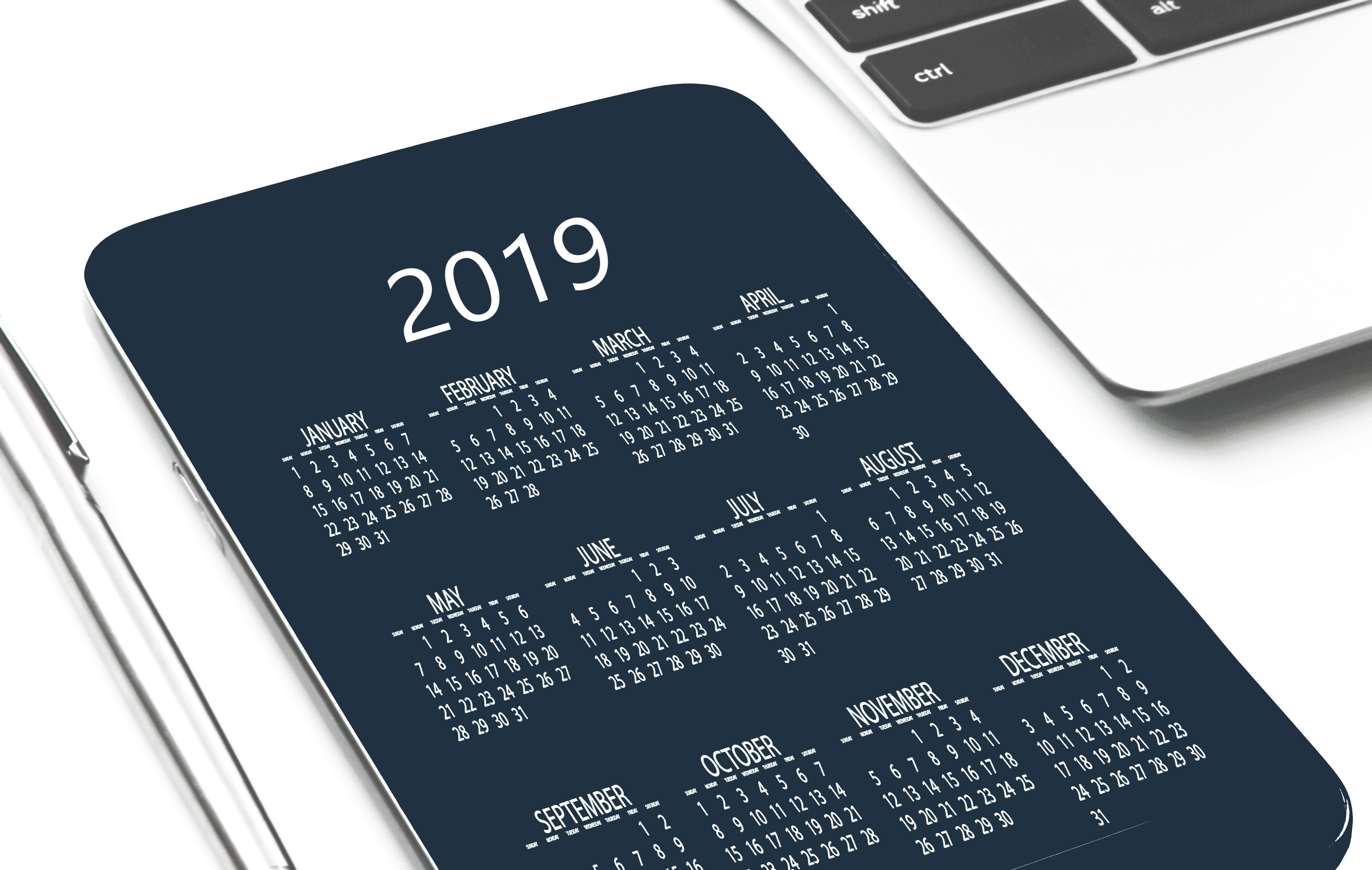 Calendar date device 2019