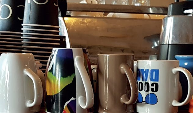 Boomerang mugs at local coffee shop