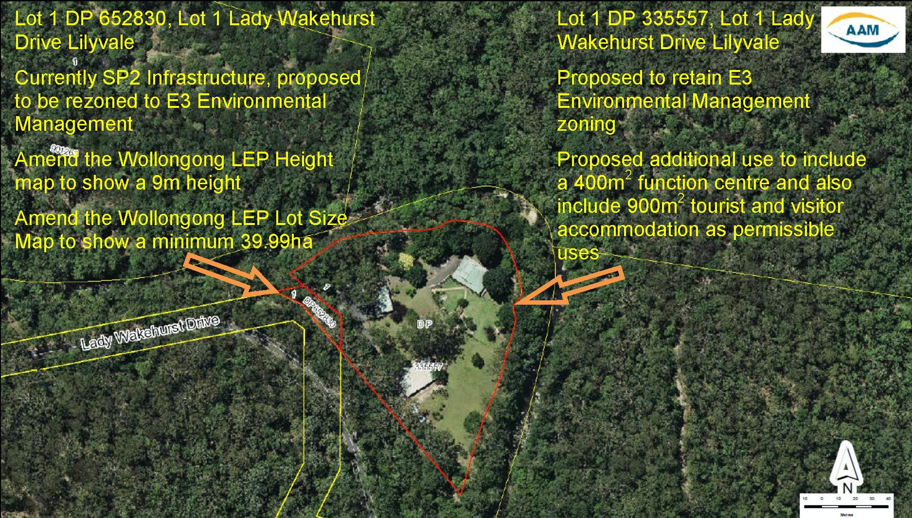 Map Of Lady Wakehurst Drive Lilyvale Preliminary Notification Exhibition
