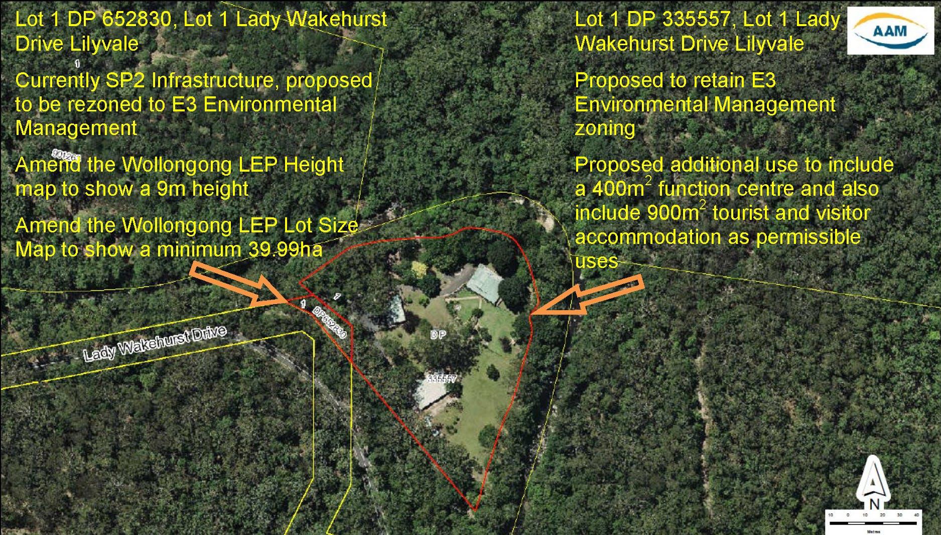 Map Of Lady Wakehurst Drive Lilyvale Preliminary Notification Exhibition