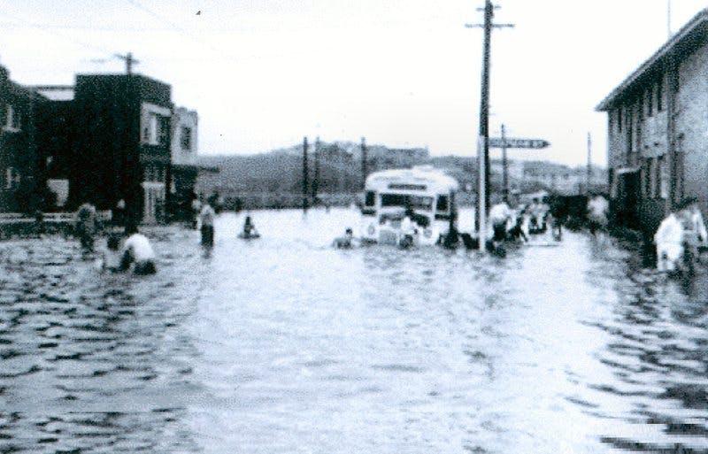 Corner of Fenton Ave and Chapman Ave. 1959
