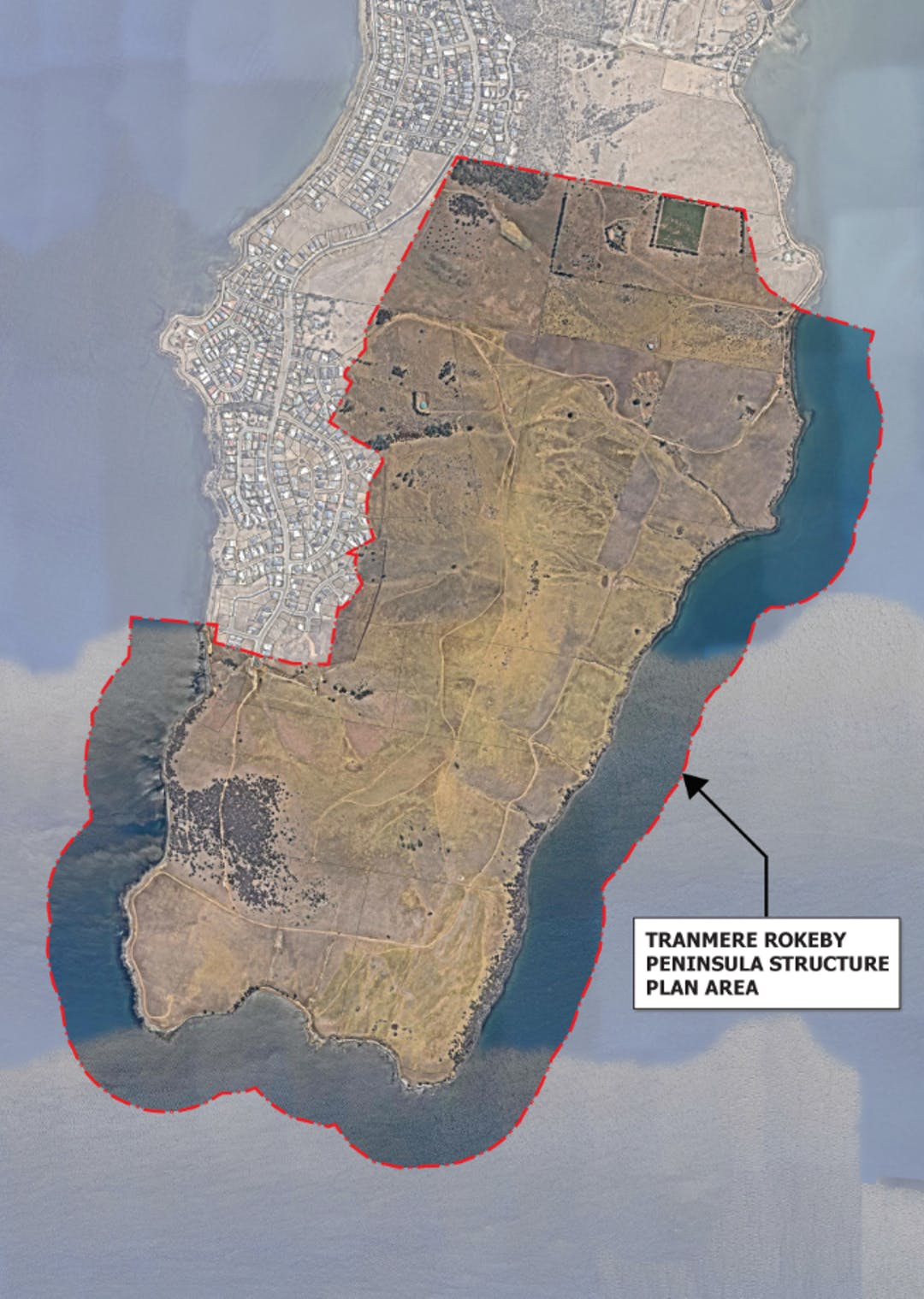 Picture of a map showing the Tranmere and Rokeby Peninsula