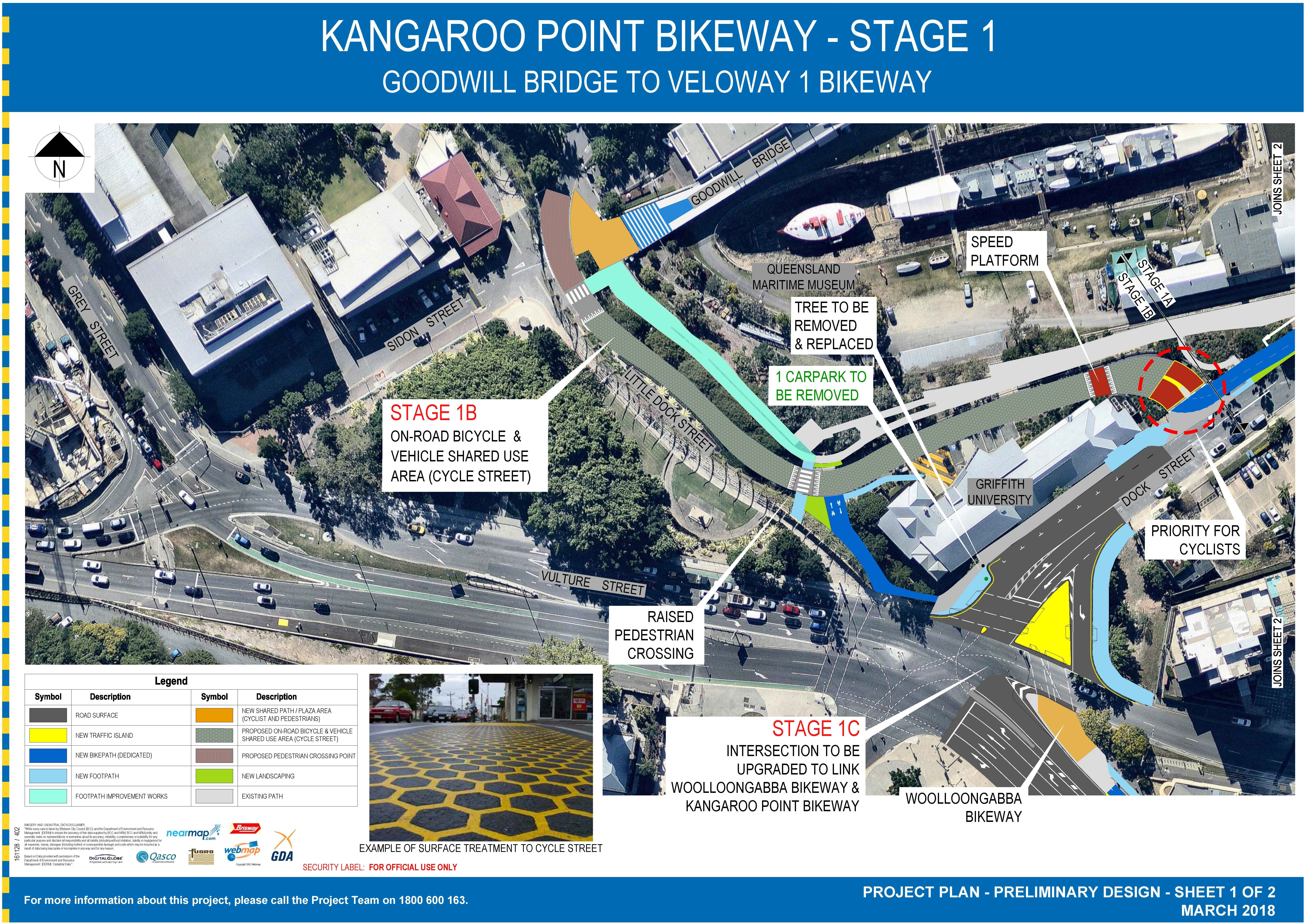 BKWY - PROJECT PLAN STAGE 1  - KANGAROO POINT BIKEWAY