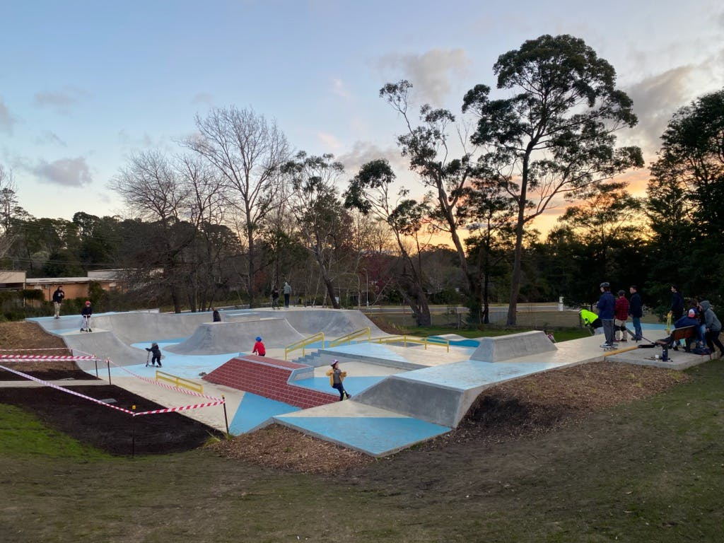 The finished skate park
