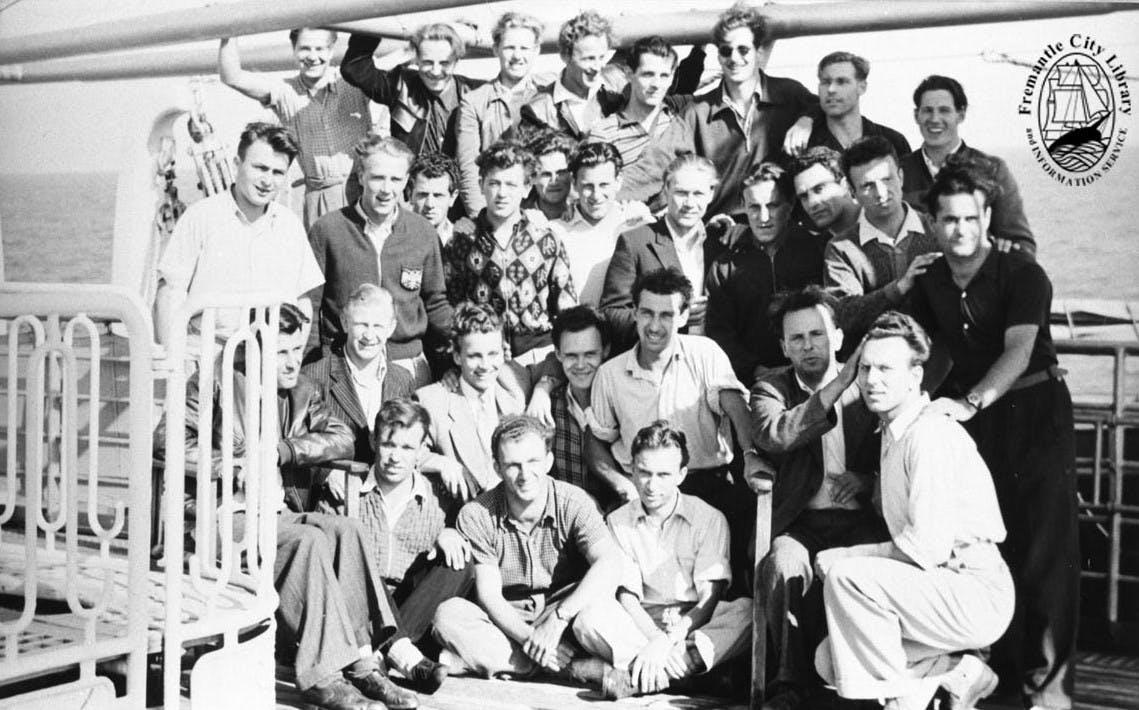 Austrian workmen, 1951.