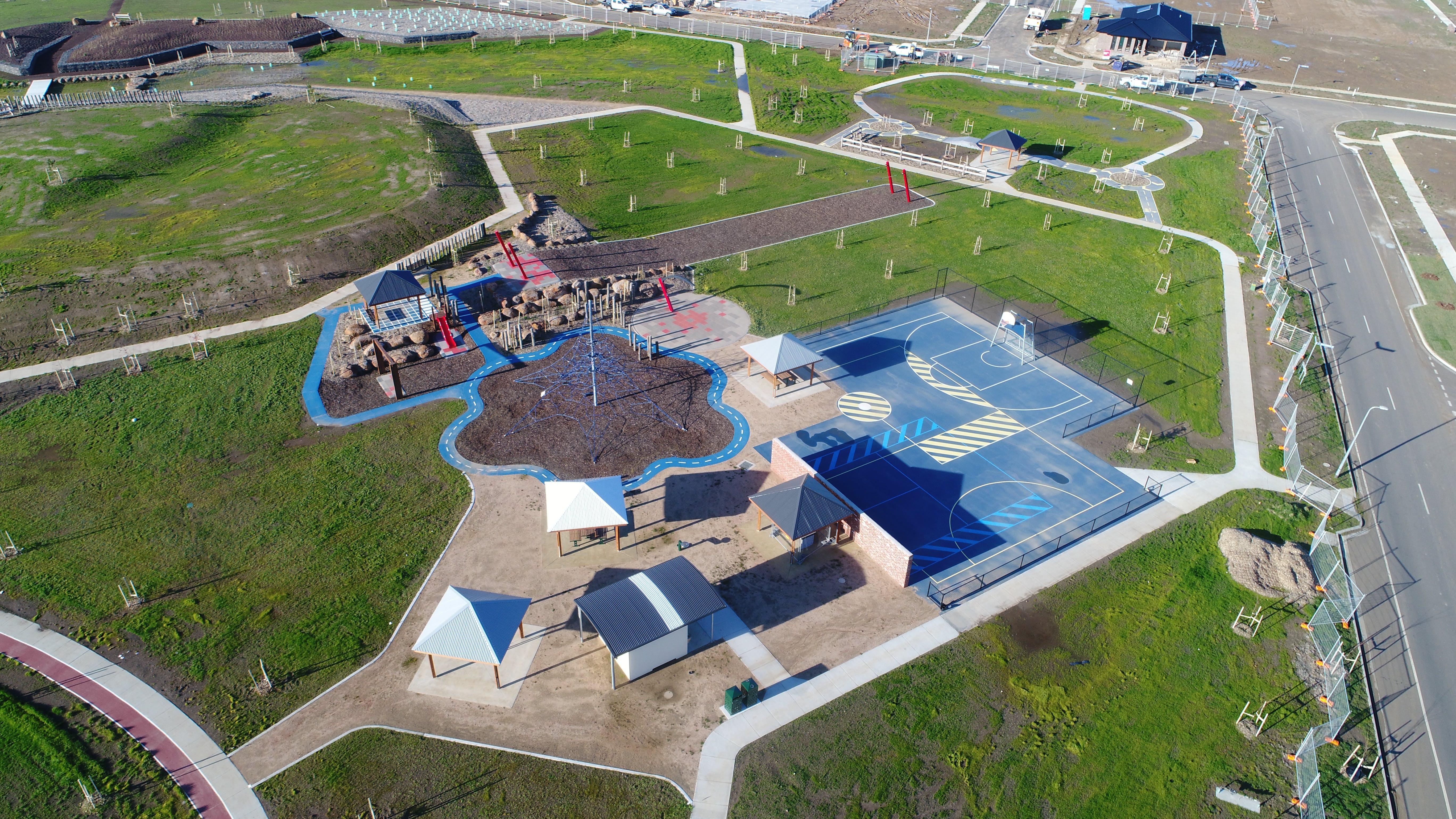 The newly created park at Ballymanus Estate