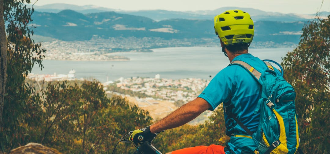 The City of Hobart has plans for better mountain bike riding in the foothills of kunanyi/Mount Wellington. Photo: Flow Mountain Bike