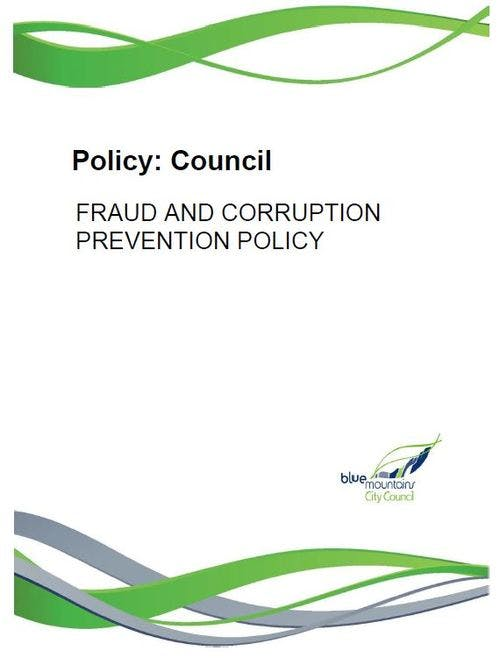 Fraud and Corruption Prevention Policy - Cover
