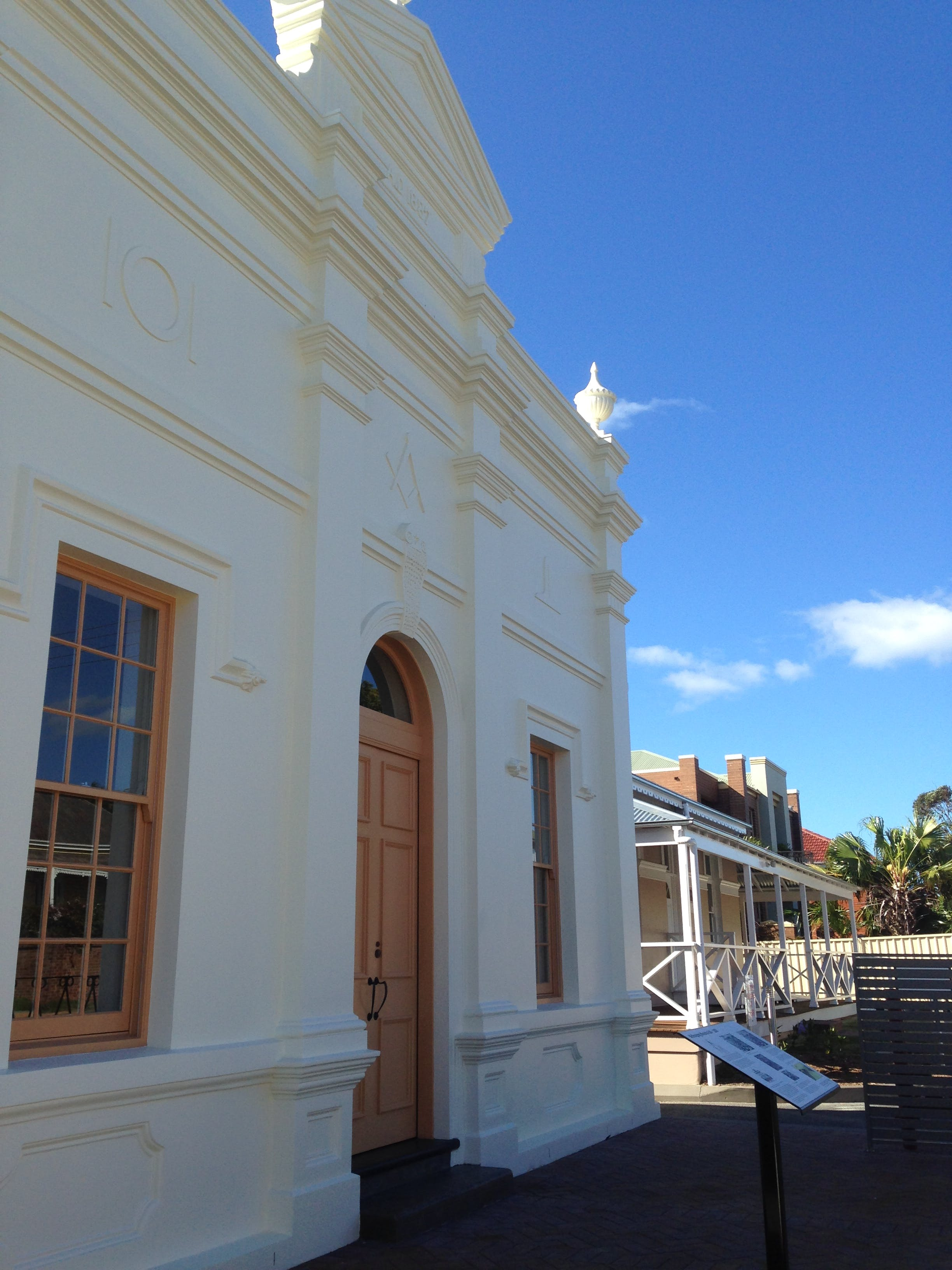 Wollongong Masonic Hall interpretive signage