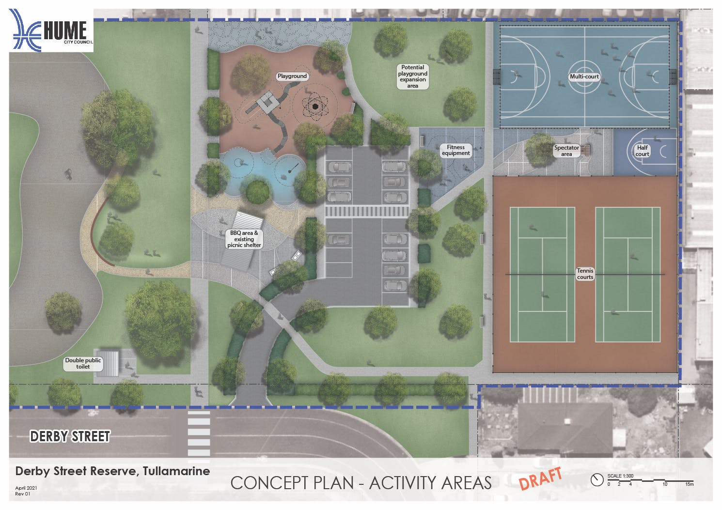Derby Street Reserve Draft Concept - Activity Areas