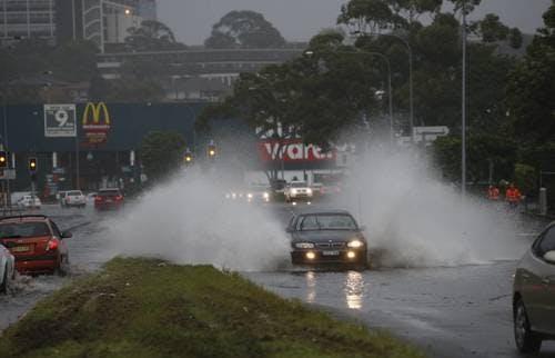 Flooding at Warrawong