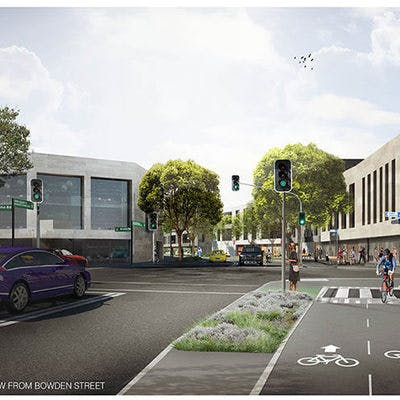 Artist's impression – long term view from Bowden Street