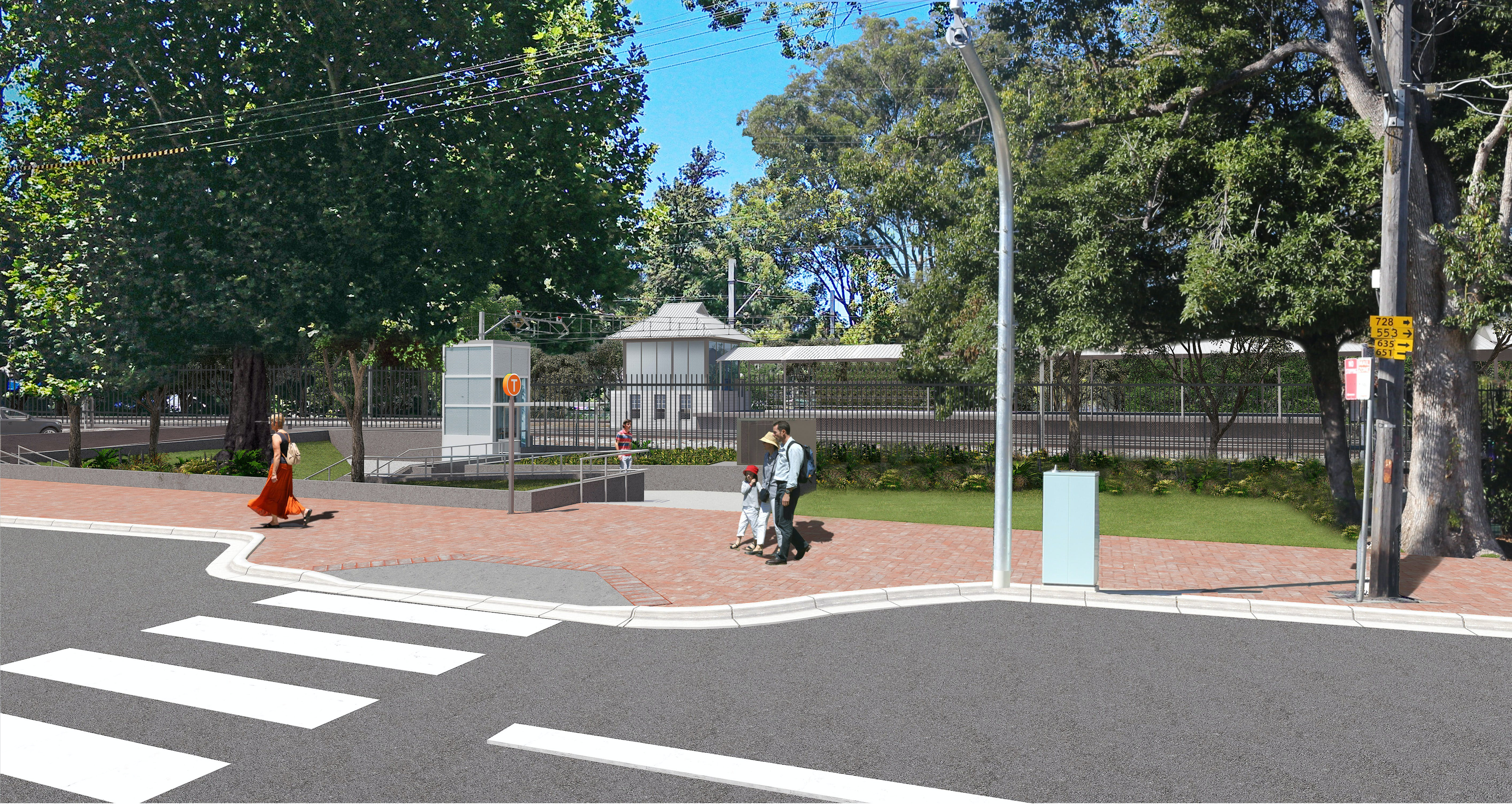 Artist's impression of the proposed Beecroft Station Upgrade, subject to detailed design.