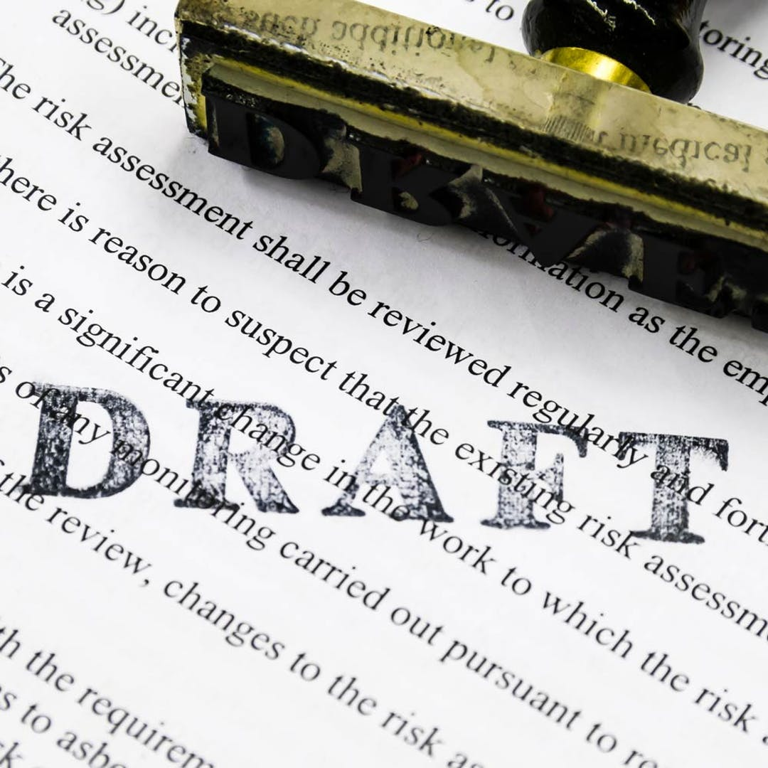 Draft paperwork