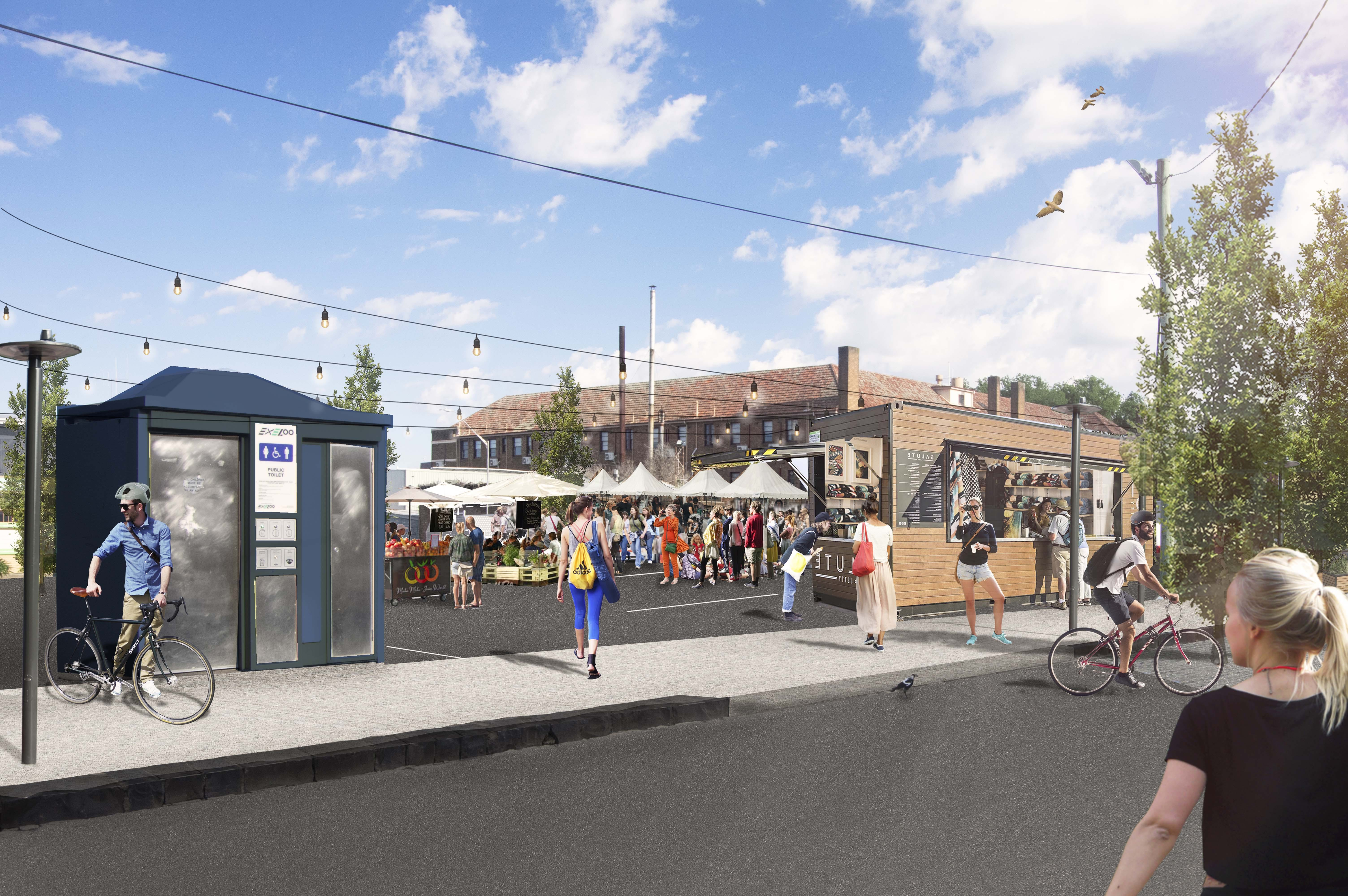 McNamara Street (View of proposed venue for markets in car park)
