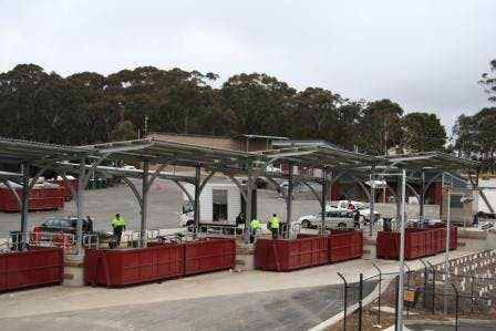 Waste drop off at the Katoomba Waste Management Facility