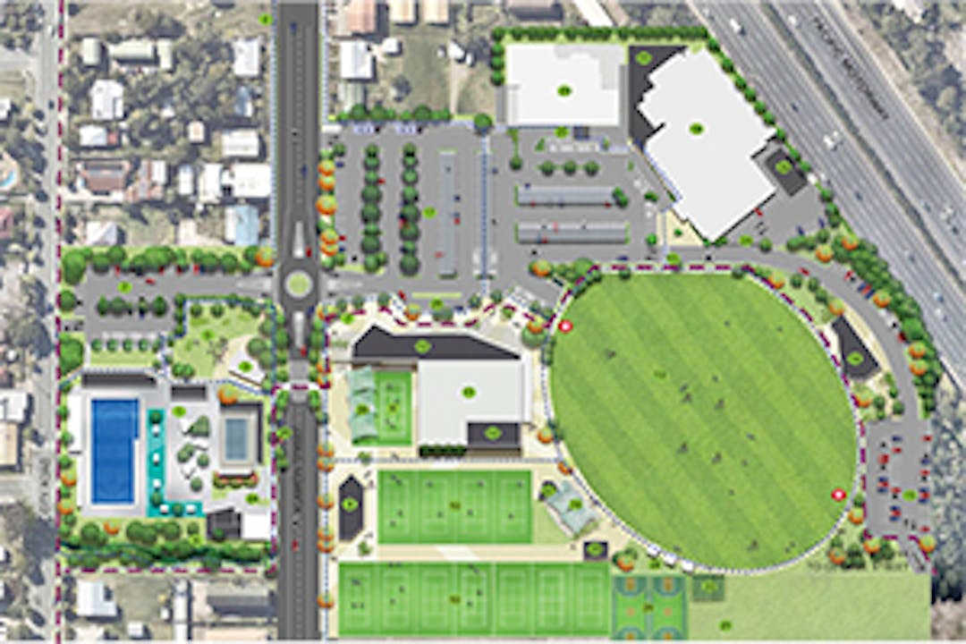 A concept plan of Dauth Park Precinct, Beenleigh