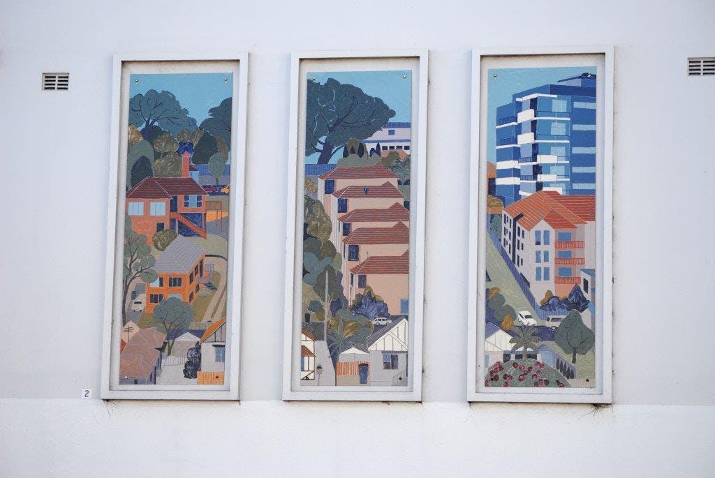 CBD Panel Project 2015, Artist: Kathryn Orton. Burelli St Wollongong