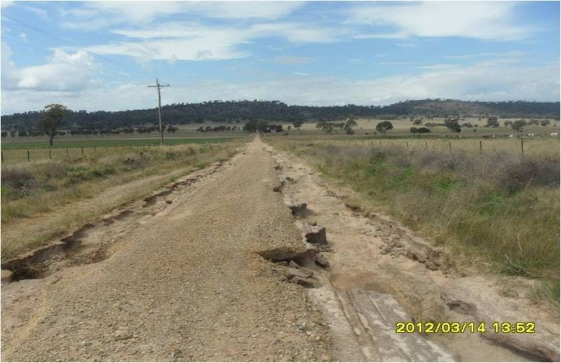 Damaged in 2010 flood, this road was repaired in Jan '12