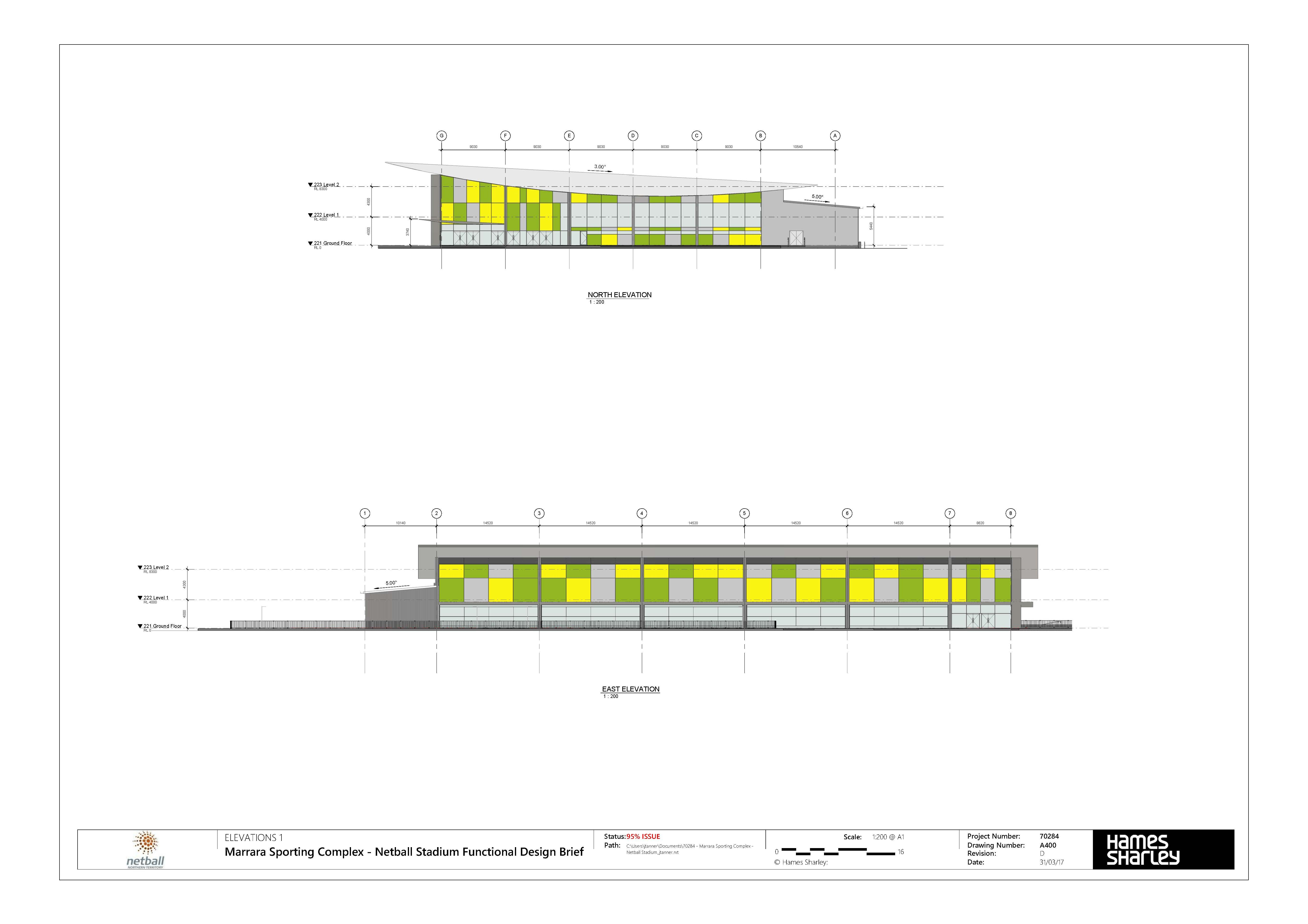 Marrara Netball Centre Drawing 07