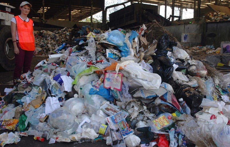 Waste for landfill