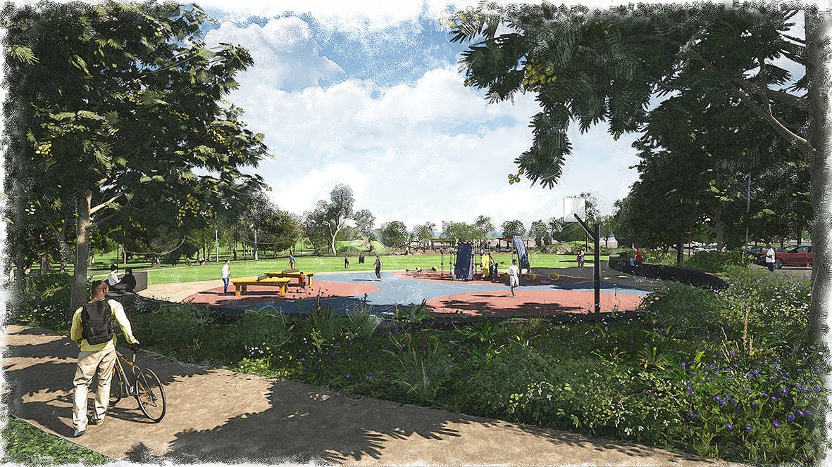 Example of potential multi-sports court