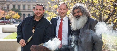 National Reconciliation Week 2018 smoking ceremony