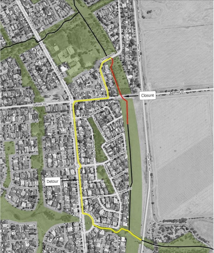 Seaford Rise Detour Map