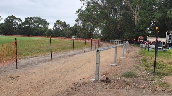 Showground boundary fencing works underway