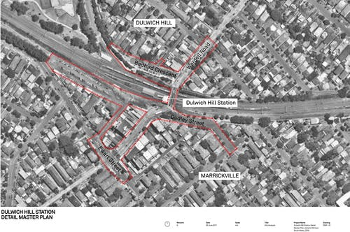 Dulwich Hill Station Precinct Map Small