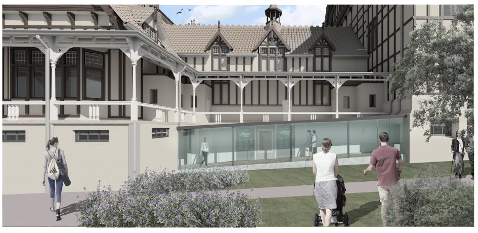 Artists Impression Of Link To Rotorua Museum Basement. Courtesy Of Dpa Architects