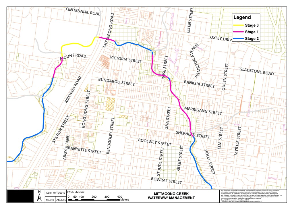 Mittagong Creek - Waterway Management Sections-v1