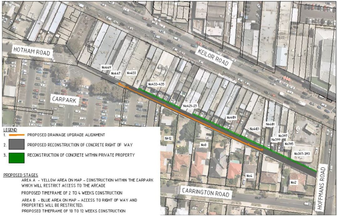 Keilor Road Right of Way upgrade