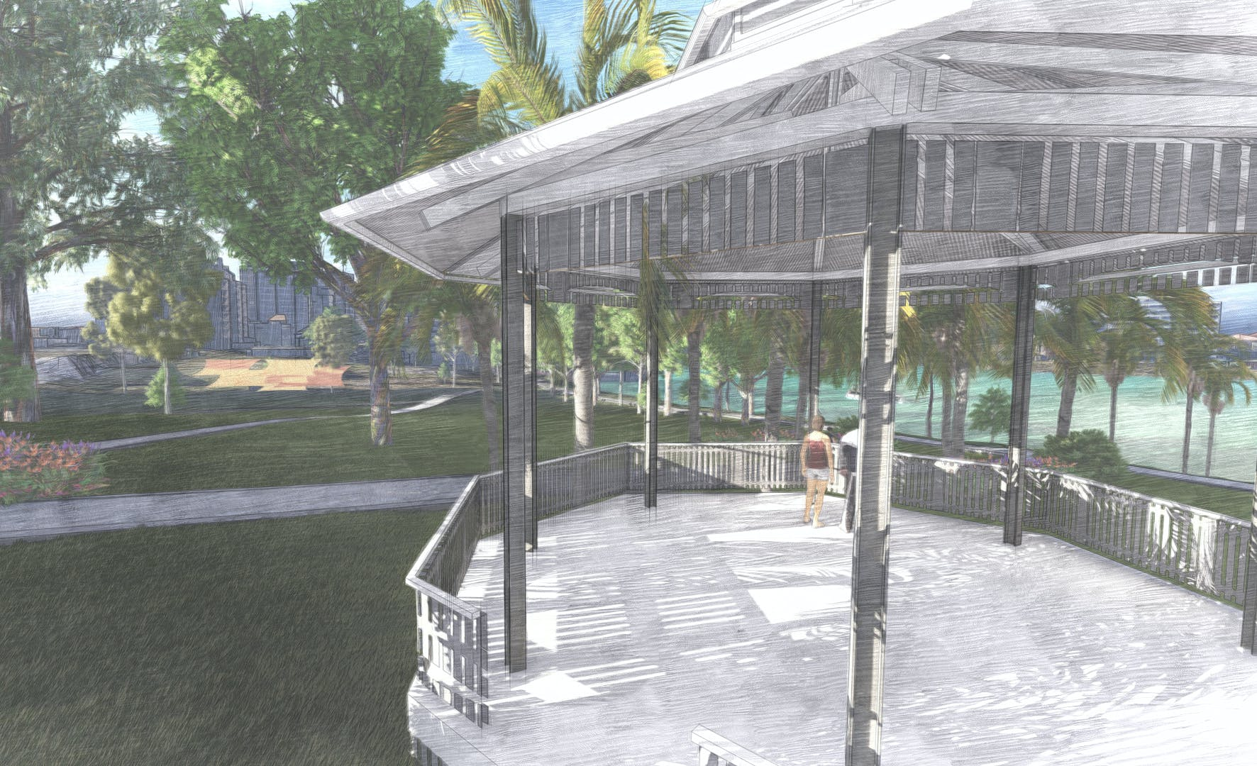 Artist's impression of the proposed bandstand