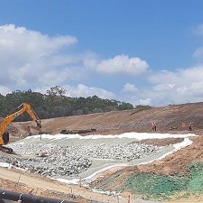 Rock drain construction