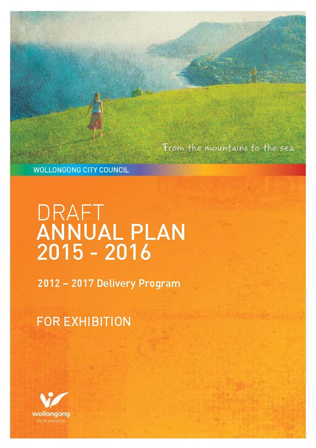 Draft annual plan 2015 2016 cover