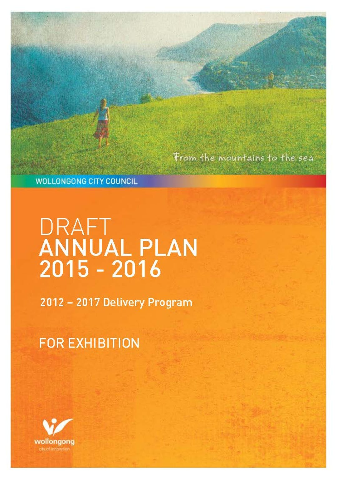 Draft annual plan 2015 2016 cover
