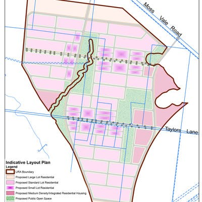 Indicative Layout Plan - Moss Vale Road South URA