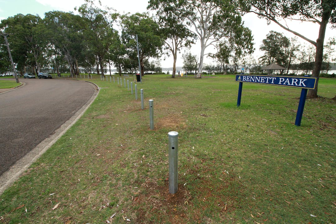 Post and cable fencing at Bennett Park, Valentine | Lake Macquarie