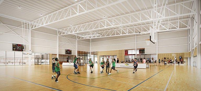 Heffron Centre Indoor Sports artist impression