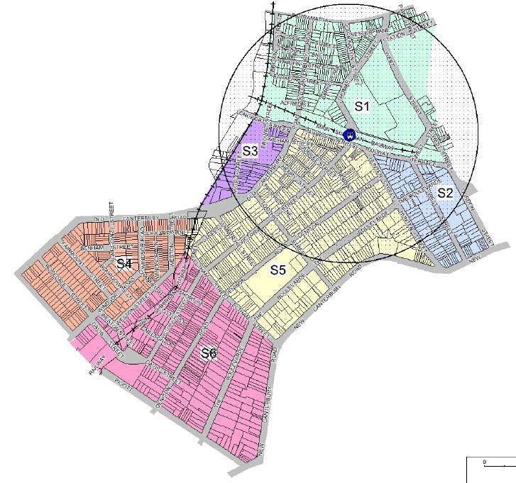 Lewisham Draft Parking Strategy area map