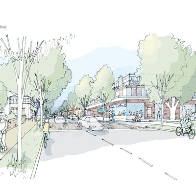 High St Sketch Perspective