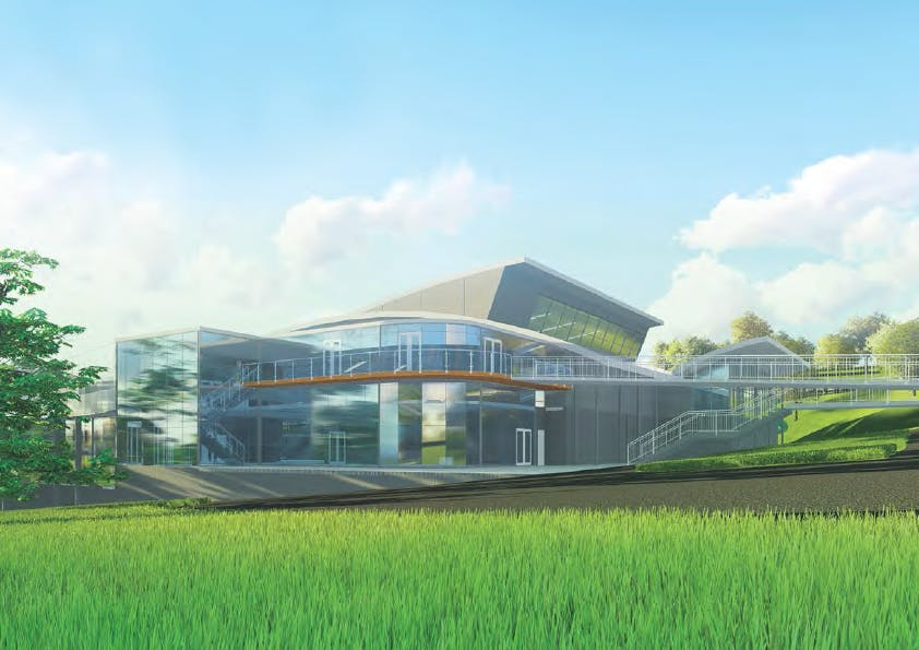 Artist impression - outside view