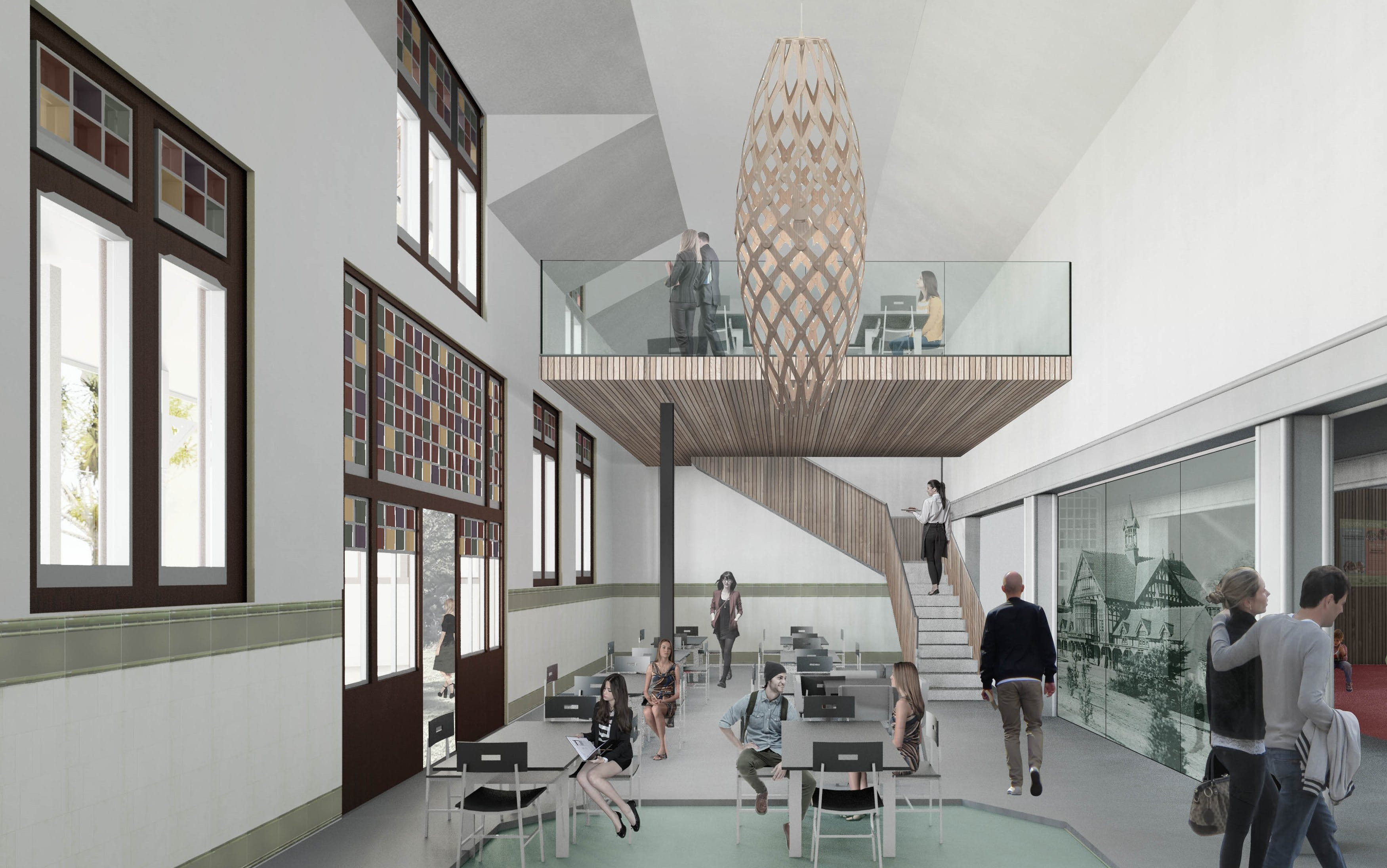 Artists Impression Of The Museum Cafe Concept Design. Dpa Architects