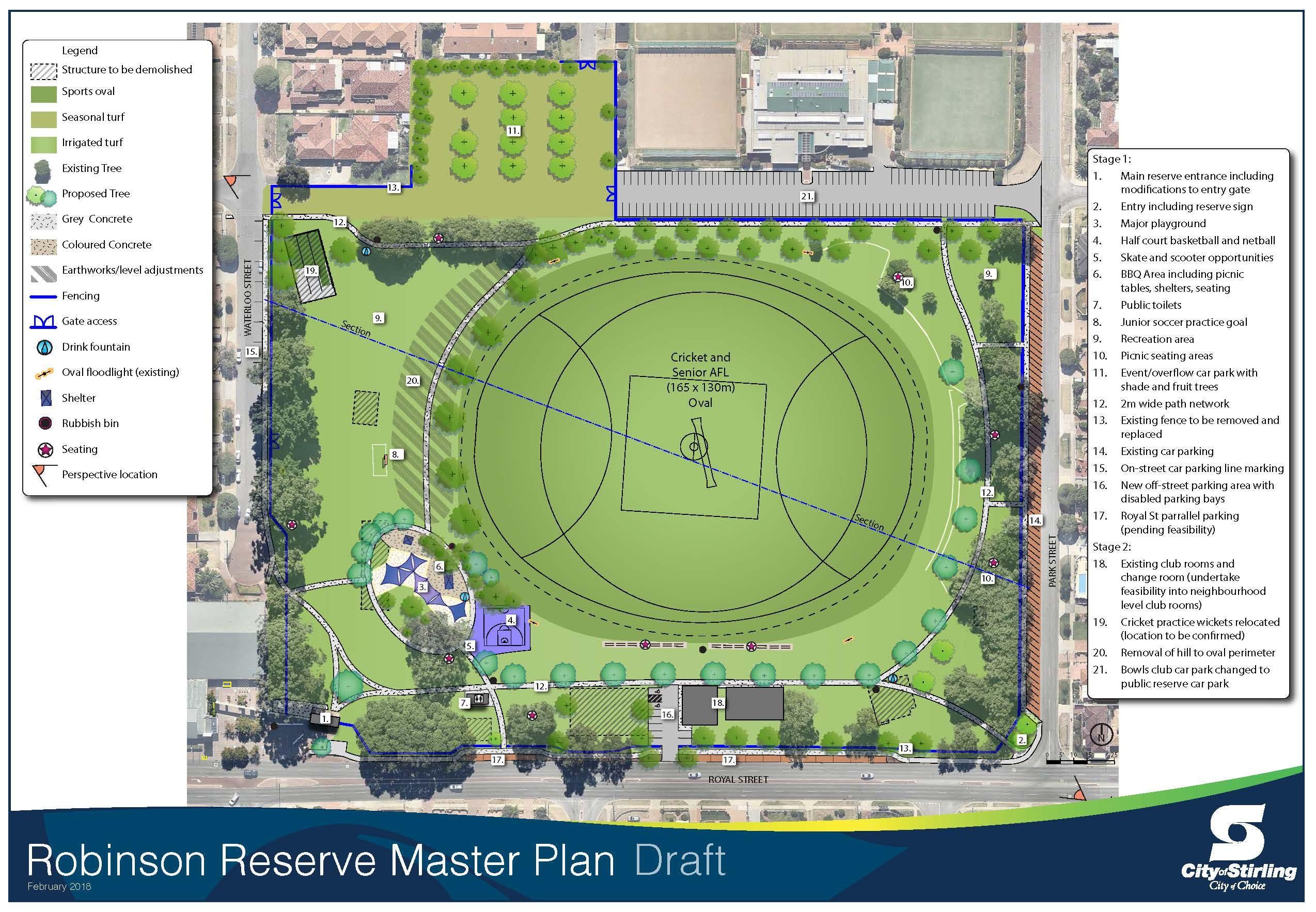 Robinson Reserve Master Plan