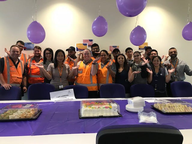 Various teams from the Train Crewing and Support Directorate gathered across the Sydney Trains network for International Women's Day events