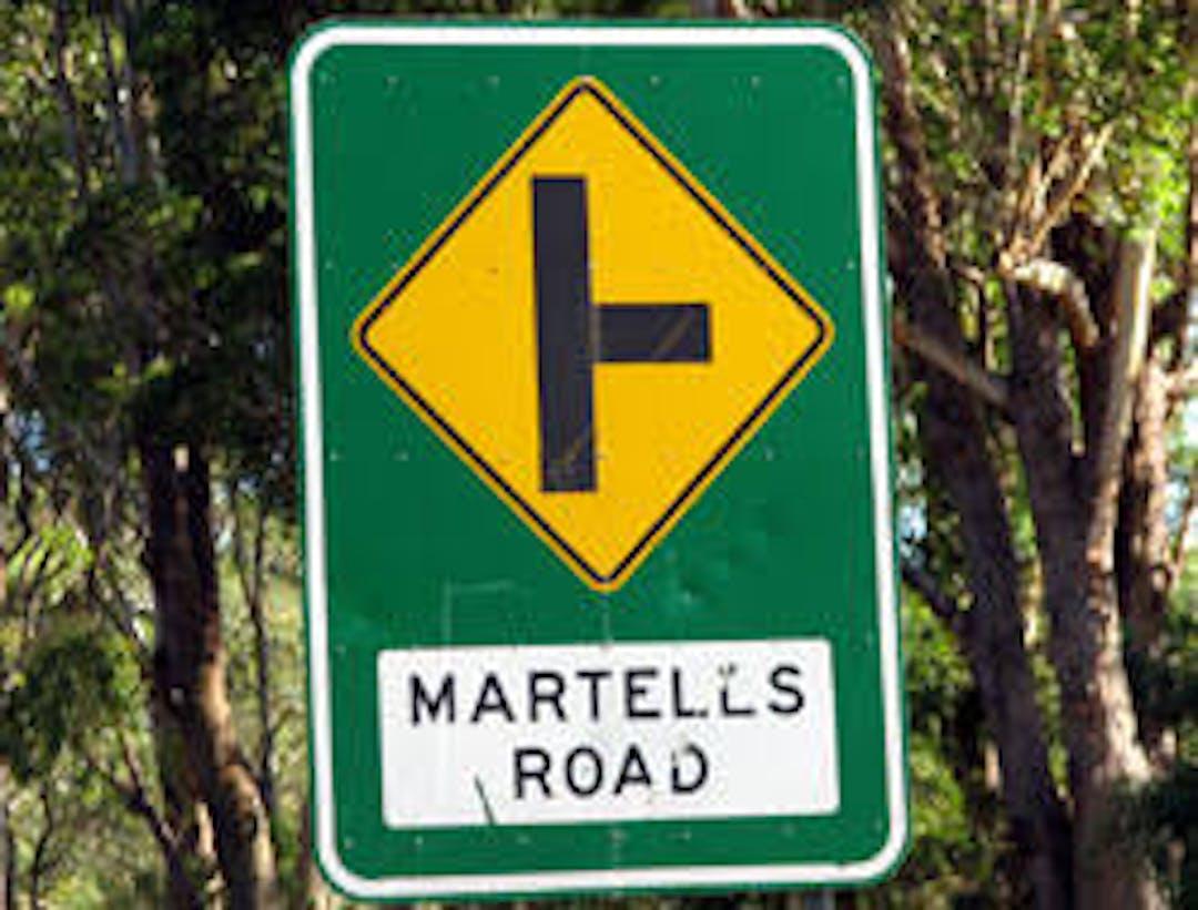 Martells rd sign