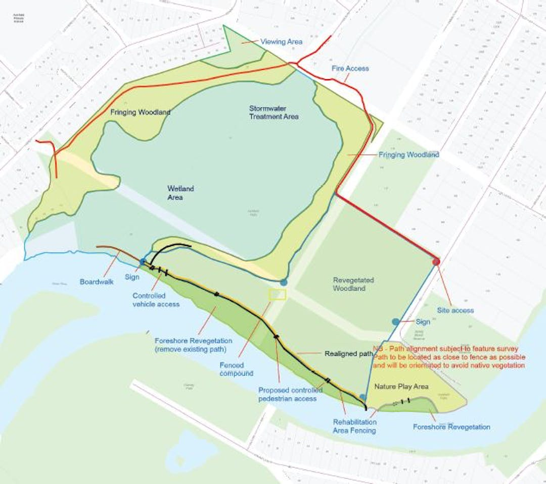 Ashfield Flats Treatment Areas